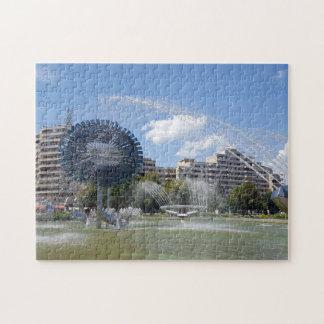 Moderner entworfener Brunnen in Iulia alba in Puzzle