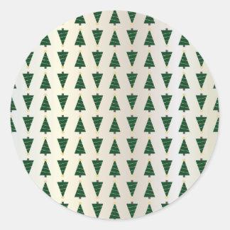Moderner Entwurfs-helle Weihnachtsbäume im weichen Runder Aufkleber