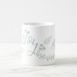 Moderner Feiertag der friedlichen Wünsche Kaffeetasse
