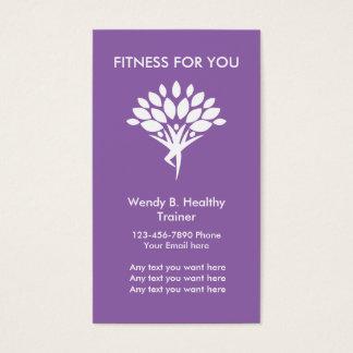 Moderner Fitness-Trainer Visitenkarte