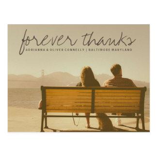 Moderner Forever dankt | Paar-Foto 2 Postkarte