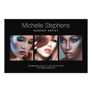 Moderner Foto-Flyer für Make-upkünstler, Stylisten 14 X 21,6 Cm Flyer