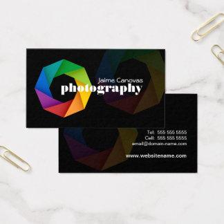 Moderner Fotograf Visitenkarte