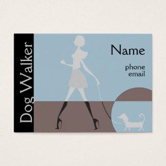 Moderner Frauen-Hundewanderer Visitenkarte