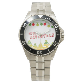 Moderner frohe Weihnacht-Entwurf Uhr