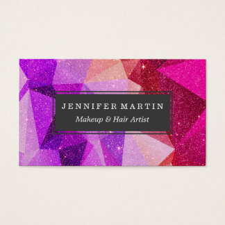 Moderner funkelnd Imitat-Glitter-geometrische Visitenkarte