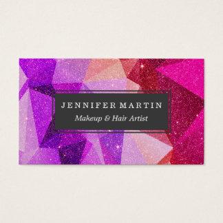 Moderner funkelnd Imitat-Glitter-geometrische Visitenkarten
