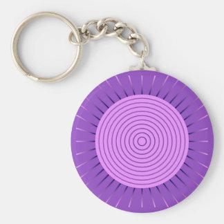 Moderner geometrischer Sonnendurchbruch - Amethyst Schlüsselanhänger