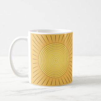 Moderner geometrischer Sonnendurchbruch - Kaffeetasse