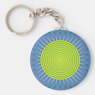 Moderner geometrischer Sonnendurchbruch - Limon Schlüsselanhänger