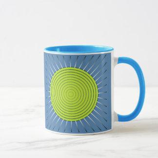 Moderner geometrischer Sonnendurchbruch - Limon Tasse