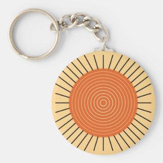 Moderner geometrischer Sonnendurchbruch - Schlüsselanhänger
