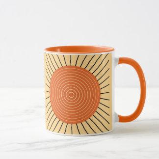 Moderner geometrischer Sonnendurchbruch - Tasse