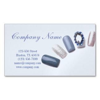 moderner girly blauer Nagelkünstler des Magnetische Visitenkarte