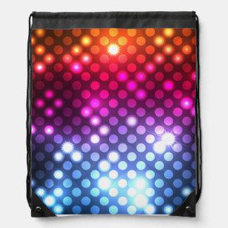 Moderner Girly Glitter beleuchtet Turnbeutel