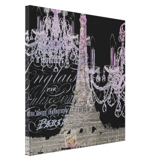 moderner girly Vintager Turm Leuchterparis Eiffel Gespannter Galerie Druck