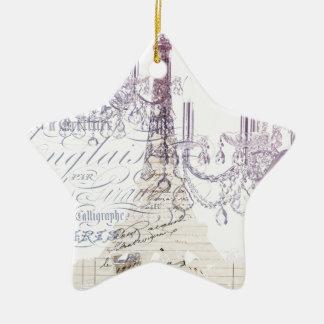 moderner girly Vintager Turm Leuchterparis Eiffel Keramik Ornament