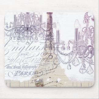 moderner girly Vintager Turm Leuchterparis Eiffel Mousepad