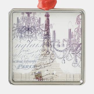 moderner girly Vintager Turm Leuchterparis Eiffel Silbernes Ornament