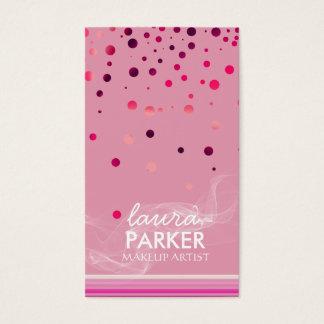 Moderner Glitter Bokeh Make-upkünstler lila Visitenkarte