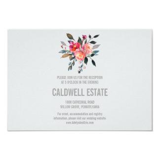 Moderner grauer 8,9 x 12,7 cm einladungskarte