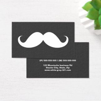 Moderner grauer Schnurrbart beruflich Visitenkarte