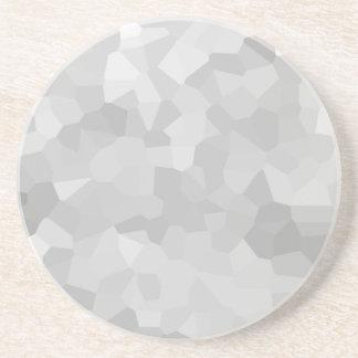 Moderner Grayscale-- graue und weiße Polygon-Form Sandstein Untersetzer