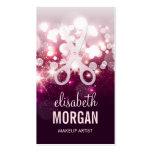 Moderner Haar-Stylist - rosa Glitter-Schein Visitenkarten Vorlagen