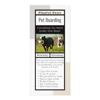 Moderner Haustier-Boarding Werbekarte