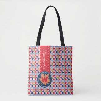 Moderner Herbst-Fall-geometrisches Tasche