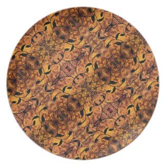 Moderner Herbst verlässt Silhouette-Muster Teller