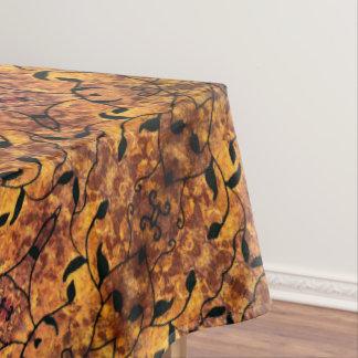 Moderner Herbst verlässt Silhouette-Muster Tischdecke
