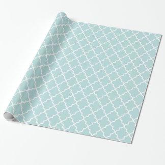 Moderner Himmel-Blau-und weißermarokkaner Geschenkpapier