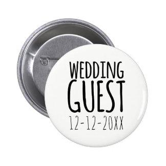 Moderner Hochzeits-Gast-Button-Knopf mit Runder Button 5,7 Cm