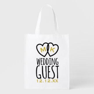 Moderner Hochzeits-GastSwag Wiederverwendbare Einkaufstasche