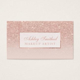 Moderner Imitat-Rosen-GoldGlitter erröten ombre Visitenkarten
