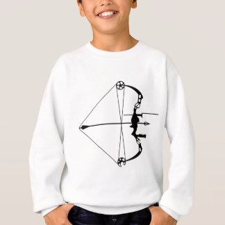 Moderner Jagd-Pfeil und Bogen Sweatshirt
