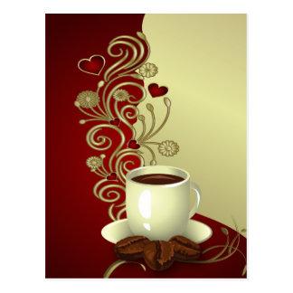 Moderner Kaffee-Liebhaber Postkarte