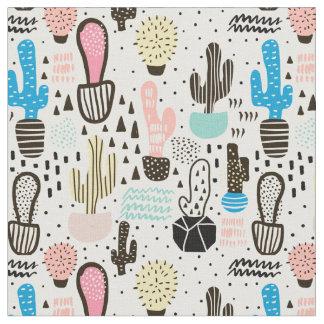 Moderner Kaktus-geometrisches Muster Stoff