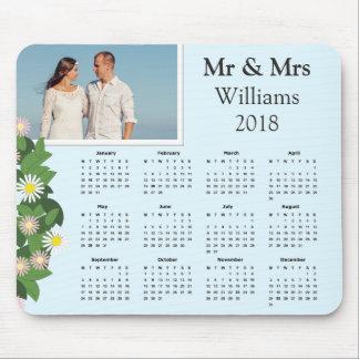Moderner Kalender 2018 des Typografie-Paar-Foto-| Mousepad
