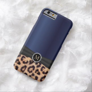 Moderner Königsblau-Leopard-Druck iPhone 6 Fall Barely There iPhone 6 Hülle