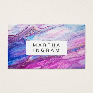 Moderner kreativer Entwurfs-lila Galaxie abstrakt Visitenkarte