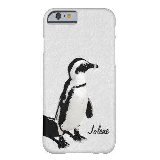 Moderner künstlerischer Schwarz-weißer Penguin Barely There iPhone 6 Hülle