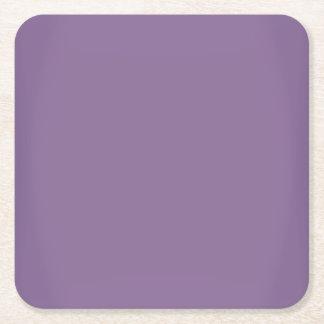Moderner Lavendel-lila kundengerechtes Rechteckiger Pappuntersetzer
