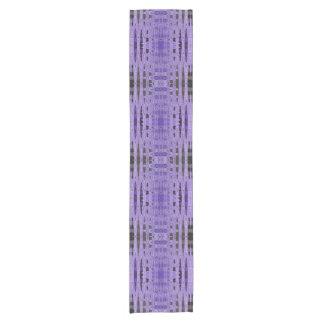 Moderner lila schwarzer Entwurf Kurzer Tischläufer