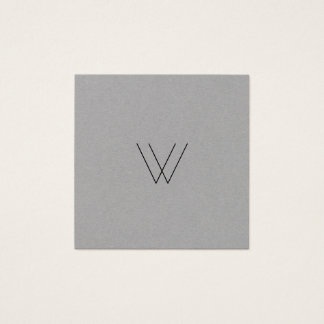 Moderner Logo-Minimalist Quadratische Visitenkarte
