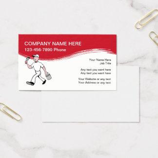 Moderner Maler Businesscards Visitenkarten