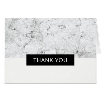 Moderner Marmor danken Ihnen - gefaltet Karte
