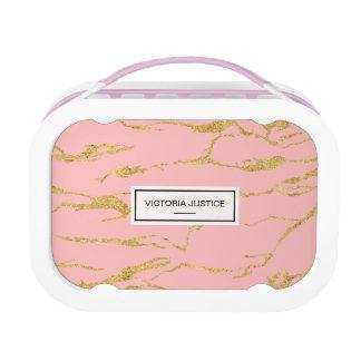 Moderner Marmor mit Imitatgold Brotdose