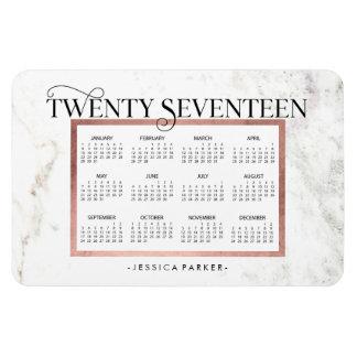 Moderner Marmordes blick-  Kalender Magnet